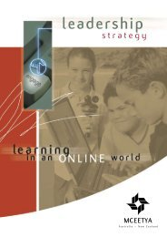 Leadership strategy: learning in an online world - Ministerial Council ...