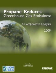 Propane Reduces Greenhouse Gas Emissions: A Comparative