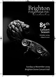 Concert Season - Brighton Philharmonic Orchestra