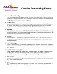 Creative Fundraising Events - Alzheimer's Association