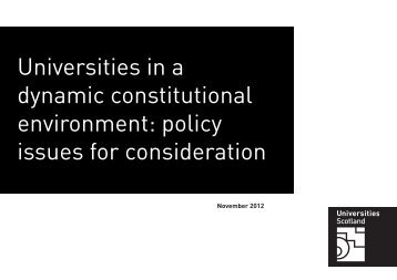 Download policy issues paper - Universities Scotland
