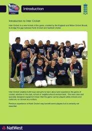 intercricket manual - Ecb - England and Wales Cricket Board