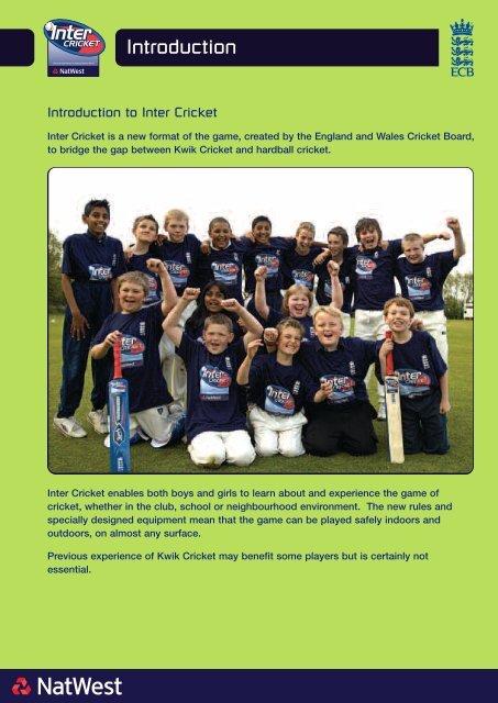 Intercricket Manual Ecb England And Wales Cricket Board