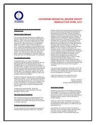 Download - Cochrane Neonatal Group - The Cochrane Collaboration