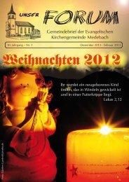 Dez. 2012 - Febr. 2013 - Evangelischen Kirchengemeinde Medebach