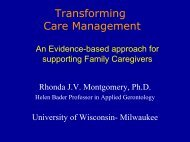 Latest in Family Caregiver Support - Washington Association of Area ...