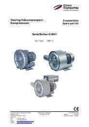 Gasring-Vakuumpumpen/- Kompressoren Serie ... - Elmo Rietschle
