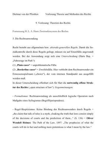 Dietmar von der Pfordten Vorlesung Theorie und Methoden des ...