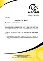 Payment of returns by cheques and cash - nbcrfli.org.za