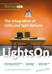 The integration of LEDs and light fixtures - Bailey