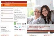 Programmflyer Pflegekongress - spectrumK