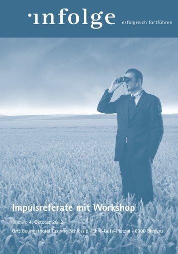 Impulsreferate mit Workshop - Wirtschaftszeit