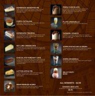 Dessert Menu - Al Fresco