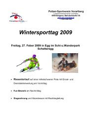 Gesamte Ausschreibung zum Download - PSV Vorarlberg