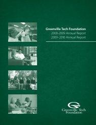 Greenville Tech Foundation 2008-2009 Annual Report 2009-2010 ...