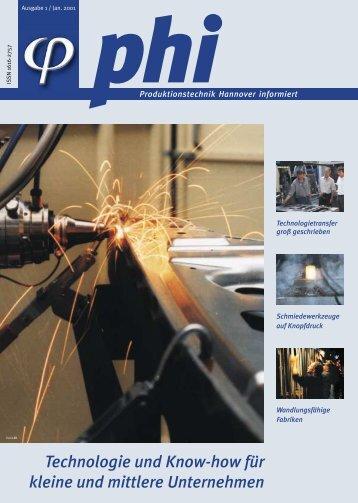 phi Ausgabe 1/2001: Technologie und Know-how