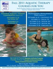 to View/Print Professional Days Registration Flyer - Aquatic Therapy ...