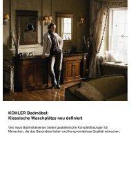 KOHLER Badmöbel: Klassische Waschplätze neu definiert