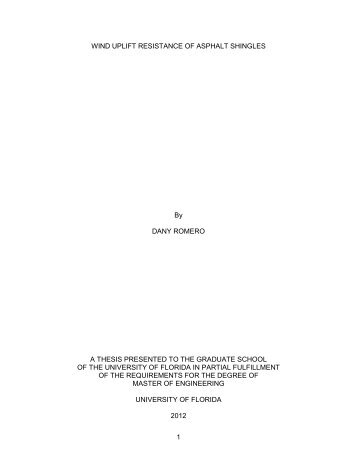 uf project 90100 - dany romero thesis presentation (masters), Presentation templates