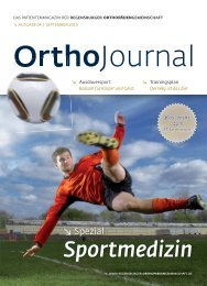 Ortho Journal - Regensburger OrthopädenGemeinschaft