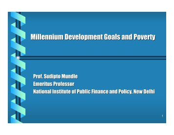 Millennium Development Goals and Poverty - UP Academy