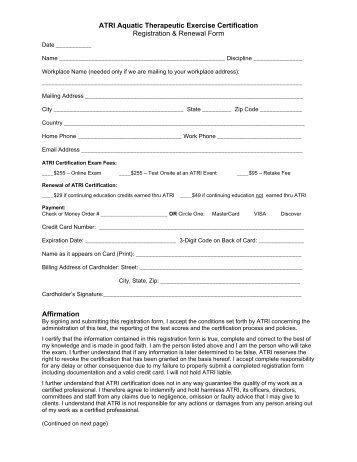 View/Print Houston Registration Flyer - Aquatic Therapy & Rehab ...