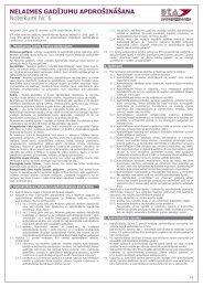 Nelaimes gadījumu apdrošināšanas noteikumi Nr.6 - BTA