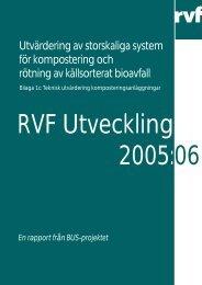 2005:06 Bilaga 1c: Teknisk utvärdering ... - Avfall Sverige