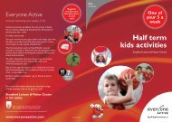 Half term kids activities - Everyone Active