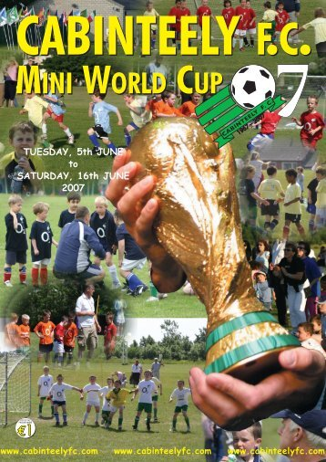 You can download the Mini World Cup programme here (pdf version ...