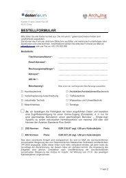 bestellformular - Kammer der Architekten und Ingenieurkonsulenten