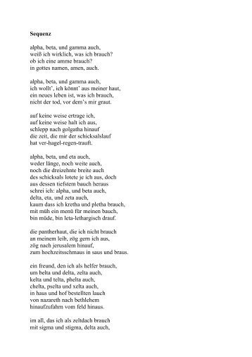 Sequenz (Gedicht)