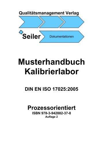 Musterhandbuch Kalibrierlabor