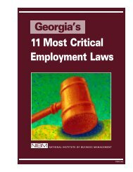 Georgia's 11 Most Critical Employment Laws