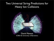 Two Universal String Predictions for Heavy Ion Collisions