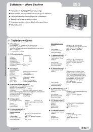 Softstarter - offene Bauform Technische Daten 8.02-1