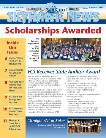 Scholarships Awarded - Fairborn City Schools