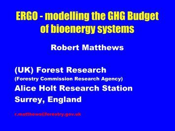 The Model ERGO - the IEA Bioenergy Task 38 Website