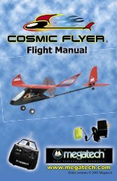 Cosmic Flyer Instruction Manual