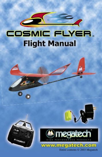 Cosmic Flyer Instruction Manual