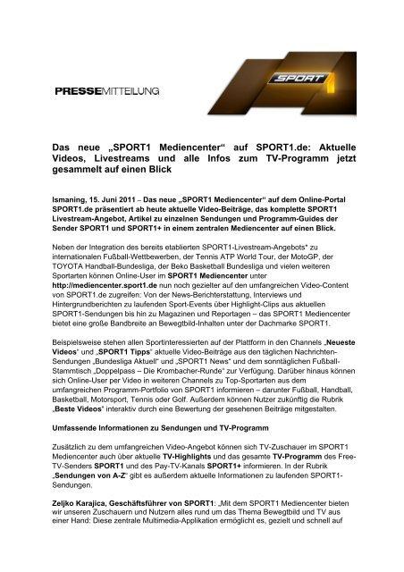Sport1.De Programm