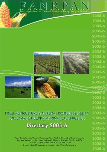 FANRPAN Directory 2005 260806