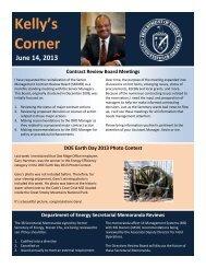 Kelly's Corner - June 14, 2013 - DOE Oak Ridge Operations