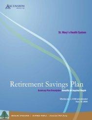 Retirement Savings Plan - St. Mary's Medical Center