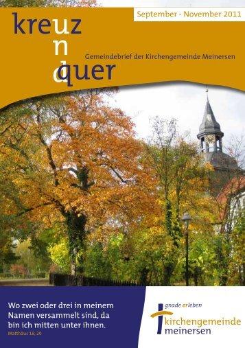 Ausgabe 4/2011 - Ev.-luth. Kirchengemeinde Meinersen