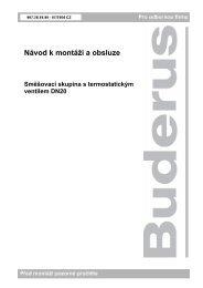 Návod k montáži a obsluze - Buderus