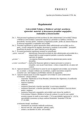Descărcați Regulamentul în format pdf - Universitatea Tehnică a ...