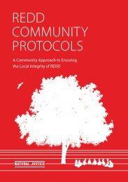 REDD COMMUNITY PROTOCOLS - Natural Justice