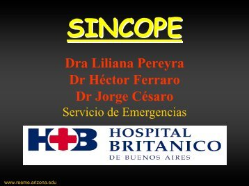 Sincope - Reeme.arizona.edu