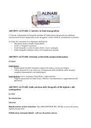 ARCHIVI ALINARI: L'attività e le fonti iconografiche - Comune di Siena
